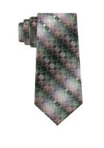 """Van Heusen Men's Bergland Green Red Geometric Pattern Classic Necktie 3"""" W - $24.99"""