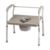 DMI Bedside Commode Chair, 500 lb Capacity Heavy-Duty Steel Commode Toilet - $103.29