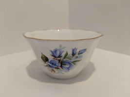 Royal Grafton Fine Bone China Blue Wild Flowers Pattern Open Sugar Bowl - $14.80