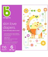 Babyganics Skin Love Ultra Absorbent Diapers, Size 6, 50 Diapers free sh... - $45.00