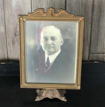Vintage Wood & Cast Iron Pedistle Antique Picture Frame  - €35,88 EUR