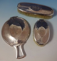 Carthage by Wallace Sterling Silver Dresser Set 3pc Hand Hammered (#1037) - $809.00