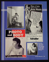 BETTIE PAGE 8.5X11 2-SIDED PIN-UP TOPLESS PHOTO AND BODY ARTIST MODELS P... - $8.79