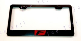 Red F Sport Lexus Stainless Steel Black License Plate Frame Rust Free W/ Caps - $13.85