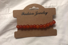 Almost Carnelian Strand Bead Bracelet - $15.00