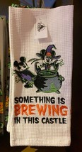 Disney Parks Halloween Something is Brewing in this Castle Kitchen Towel New Tag - $29.39