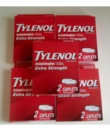 5 Pack Tylenol Extra Strength Acetaminophen Caplets, 500 mg, 2 Ct each p... - $14.85
