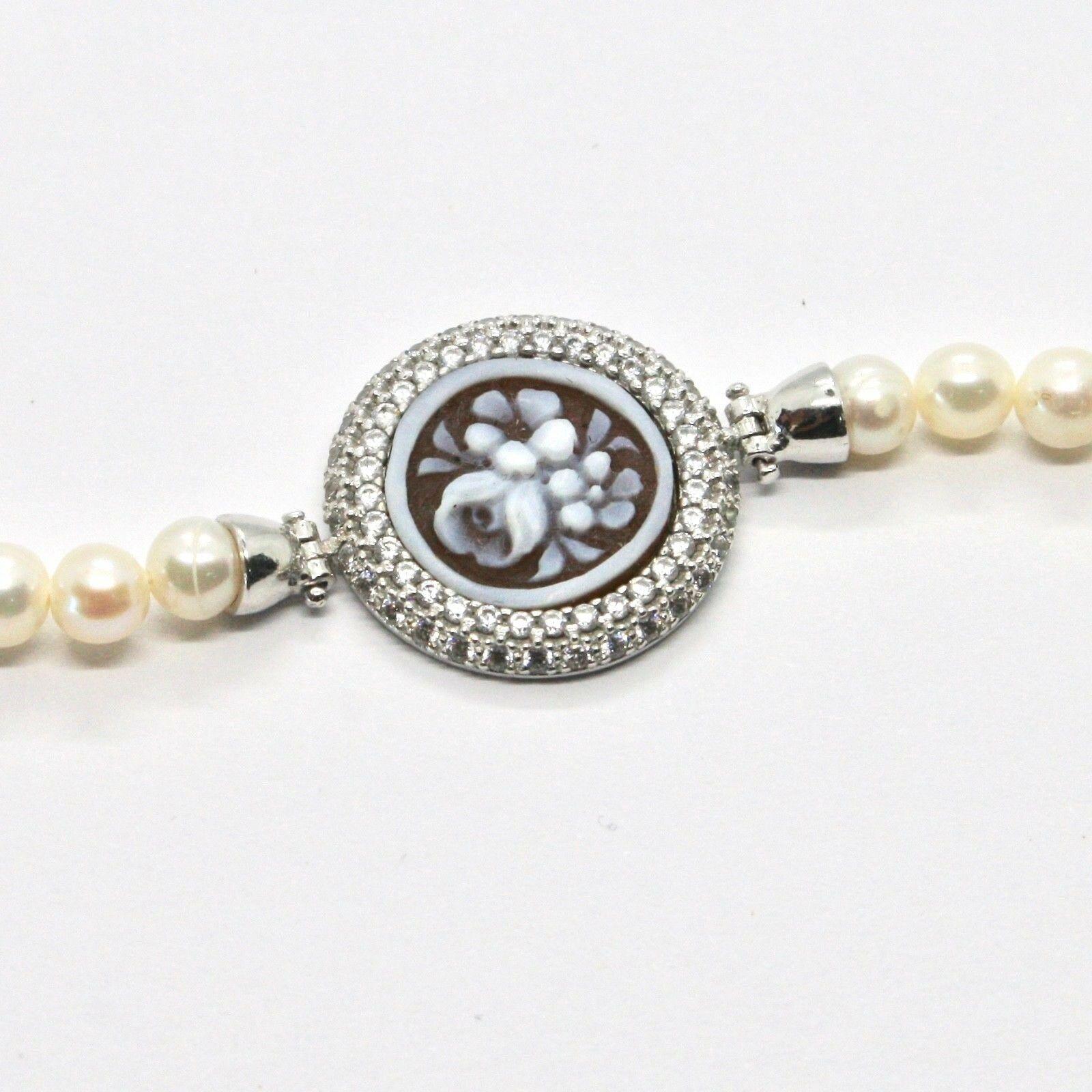 Armband 925 Silber mit Perlen Wasser Dolce Kamee Kamee Zirkonia Kubische image 7