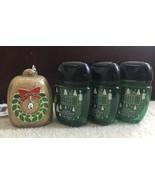 Bath&Body Works Christmas Gold Wreath Pocketbac holder Winter Citrus Wreath set - $30.00