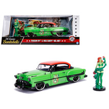 1953 Chevrolet Bel Air Green and Red Top with Poison Ivy Diecast Figure ... - $49.84