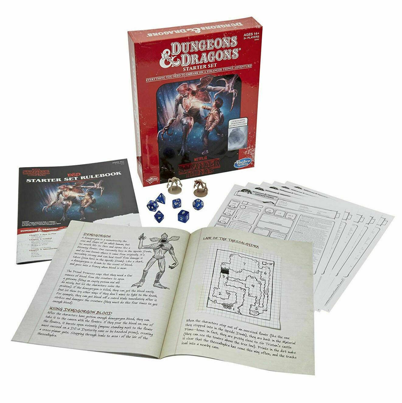 Hasbro E3702 Stranger Things Dungeons Dragons Role Playing Game Starter Set