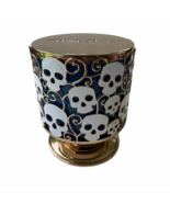 NEW Bath and Body Works Candle 2021 Holder White Toss Skull 3 Wick Gold ... - $39.99