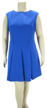 AMERICAN LIVING Textured Stripe Metallic Fit and Flare Dress, Blue NWOT 18 - $23.04