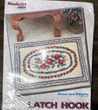 "Wonderart Latch Hook Rug Kit Roses and Ribbons 24"" X 34"" Art, # F4375 - $28.99"