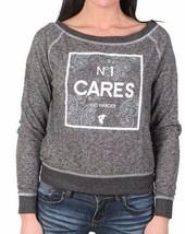 Famous Stars & Straps Charcoal Heather Go Harder Pazer Juniors Crew Sweatshirt image 1