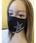 Dallas Cowboys Face Mask Rhinestone Bling Mask With Filter - £13.44 GBP