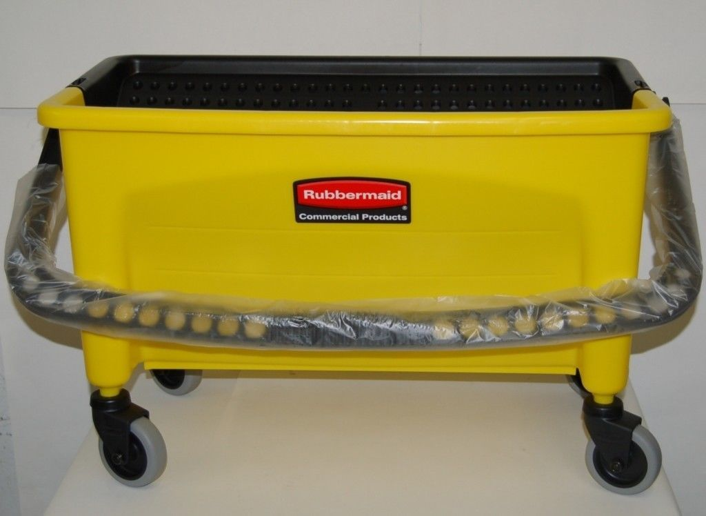 Rubbermaid Q900 88 Microfiber Press Wring Bucket Without Lid Yellow USA
