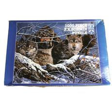 The Predators 1000 Piece Jigsaw Puzzle F.X. Schmid Wolves Wolf 1996 - $24.99