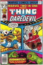 Marvel Two-In-One Comic Book #38 The Thing and Daredevil Marvel 1978 VERY FINE- - $3.75