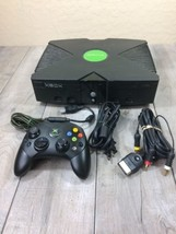 Original Microsoft XBOX Console w/ Controller And All Wires: Tested - $46.74