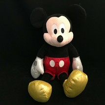 Ty Sparkle Mickey Mouse Plush Stuffed Doll Disney Silver Gloves Gold Sho... - $15.19