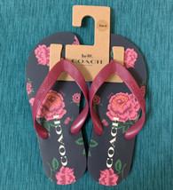 NWT Coach ZAK Signature Flip Flop Sandals with Floral Print Shoes Size 6 - $39.00