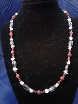 "20"" Handmade Iolite, Jade, and Agate Beaded Necklace Z176 - $40.00"