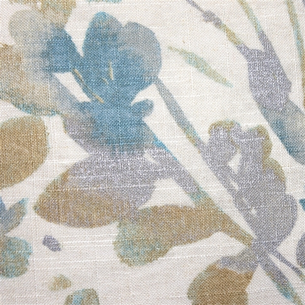 Pillow Decor - Linen Leaf Marine Throw Pillow 20x20 image 2