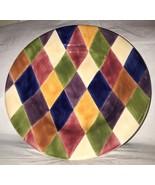 Tabletops Harlequin Multicolor Diamond Rimmed Vegetable Pasta Serving Bo... - $16.99
