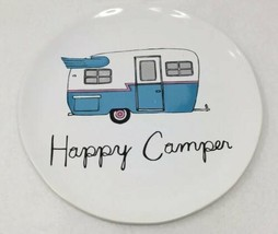 Bath & Body Works Happy Camper Plate Retro RV Large 3 Wick Candle Holder NEW - $13.86