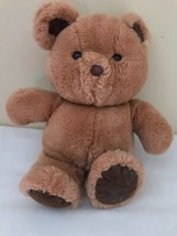 Vintage Dakin Stuffed Teddy Bear 982 Light And Dark Brown Shredded Clipp... - $34.65
