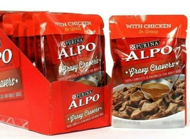 6 Count Purina 3.5 Oz Alpo Gravy Cravers With Chicken Adult Dog Food BB 3/2022 - $14.99