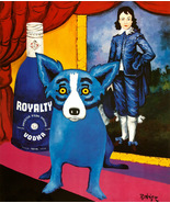 George Rodriguez Art oil painting printed on canvas home decor Blue Dog - $19.99