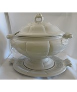 Red Cliff Ironstone Oval Tureen with Underplate Gray - $39.99