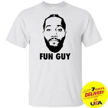 White Shirt Kawhi Leonard FUN GUY T Shirt Short Sleeve - $13.99+