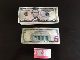 500 Prop Money Used Replica 5s All Full Print For Movie Video Films Etc. - $25.99
