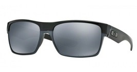 New Oakley TwoFace Polished Black w/Black Iridium Polarized 9189-01  - $140.09