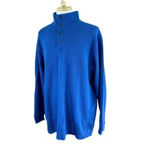 Duluth Trading Men's Pullover Long Sleeve Thermal Cotton Blend Blue Shir... - $27.92