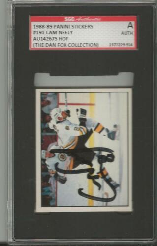 Cam Neely 1988 Panini Stickers Autograph #191 SGC Bruins