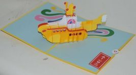 Lovepop LP1553 The Beatles Yellow Submarine Pop Up Card and Envelope Pkg 1 image 3