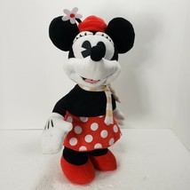 Disney Christmas Minnie Mouse Retro Classic Animated Musical Dancing Dol... - $24.18