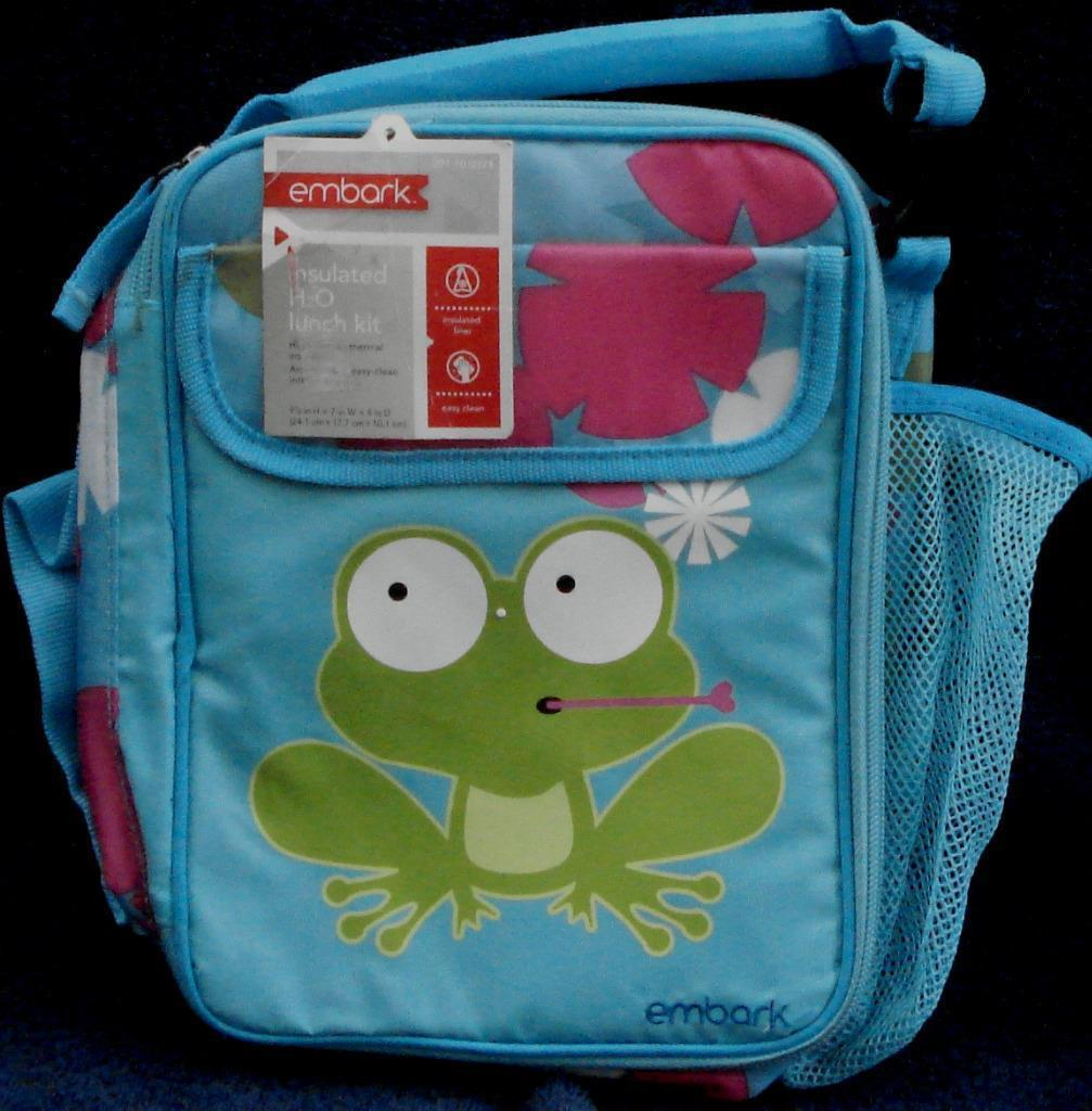 Embark Insulated H2O Lunchpack - Cute Froggy and Flower Pattern - BRAND NEW - $9.89