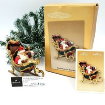 Hallmark Plotting the Course Santa Sleigh Ornament 2004 Club Exclusive w... - $13.88