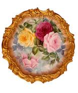 Porcelain T&V Limoges Plate Marked Berlin Roses - $170.00