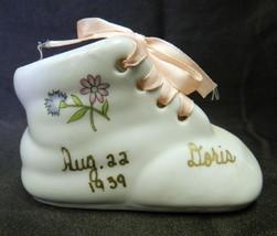 Planter Lace Up Bootie Chadwick Floral Flower Doris 1939 Baby Announcement - $19.37