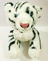 "BAB Build A Bear White Tiger Siberian Plush 12"" Tall 19"" Long Blue Eyes - $19.79"