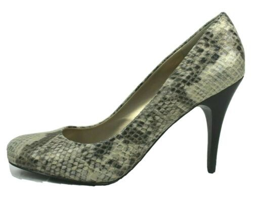 Js Jessica Simpson Oscar Donna Scarpe Tacchi Animalier Grigio Misura 8B - $16.68