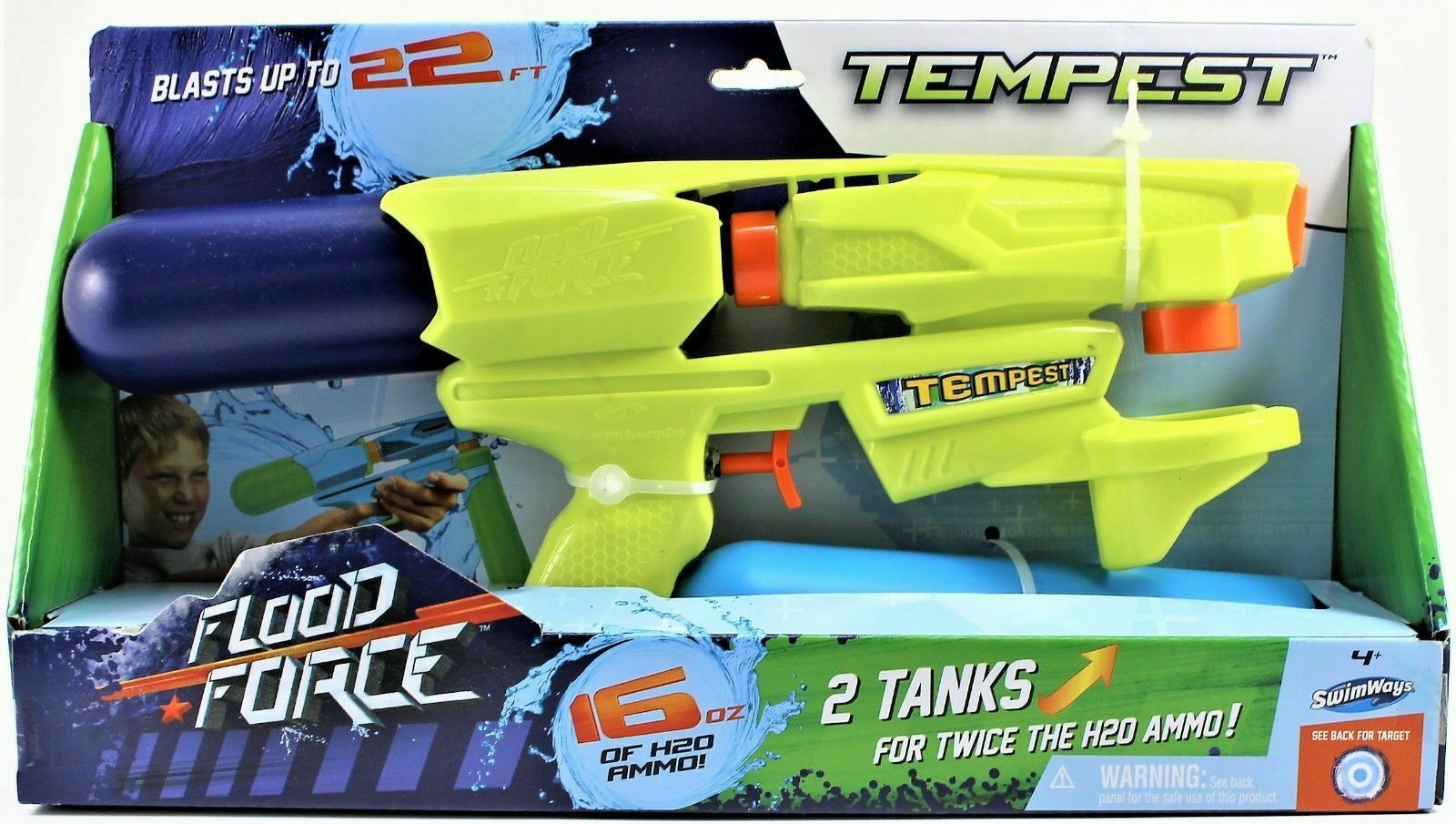 Primary image for Squirt Gun Swimways Flood Force Tempest Water Gun (Blue & Yellow) 51393552