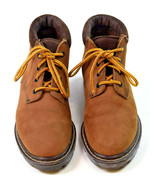Vintage 90s EASTLAND Ankle Boots Brown Nubuck Leather Lace Up Mens 8.5 M - $19.79