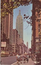 1952 New York City Empire State Building Postcard Colourpicture - $3.34